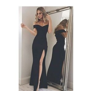 Sexy Black Off Shoulder Gown